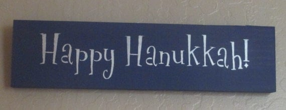Wooden Holiday Sign Happy Hanukkah Wooden by WyliesWhimsicals
