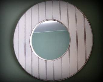 Round Circle Shabby Chic Mirror