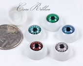 10/20/50pcs 16mm Round Eyeball Eye Spooky Resin Cabochons