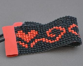 Bracelet, Seed Bead Bracelet, Handmade bracelet, Friendship Bracelet, Loomed Bracelet, Bead Loom Bracelet, Heart