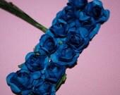 24--ROYAL BLUE--Beautiful mini paper flowers