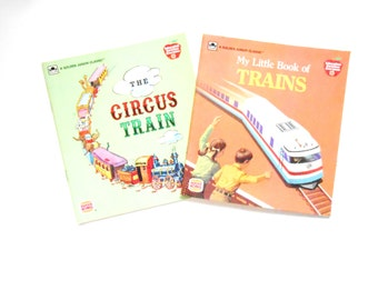 My Little Book of Trains  and The Circus Train, Vintage Burger King Promotion Books
