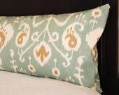 Body Pillow Cover - Spa Ikat - 20 x 54 - Decorative Throw Pillow Cover - Body Pillowcase - Bolster Pillow - Dorm Decor