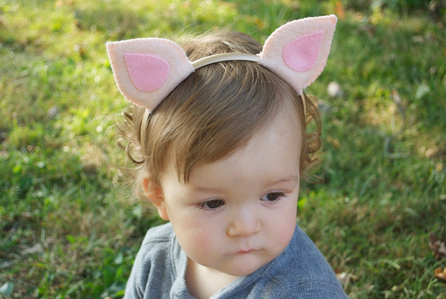 Wool felt pig ears headband zoom pronofoot35fo Images