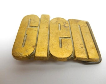 Vintage  Brass Belt Buckle  Glen