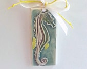Ceramic seahorse Christmas ornament, coastal tree decoration