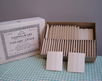 Trippelware Tailor's Chalk - Vintage - Made in USA - Industrial Use - 43 pieces -