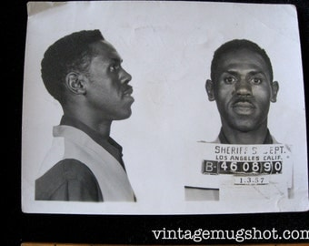 Los Angeles Sheriff's Department Police Criminal  MUG SHOT  1957 Brother Ross