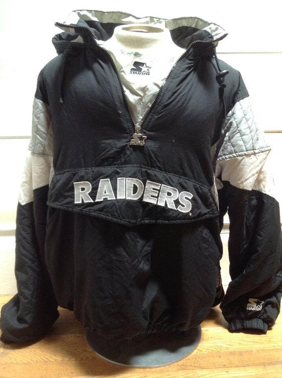 Vintage Oakland Raiders Starter Pullover Jacket XL