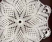 Crochet doily, lace doilies, table decoration, crocheted doilies, centre piece, hand made, Winter doily, napkin, white, wedding