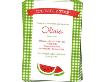 PRINTABLE Summer or Watermelon Party Invitation