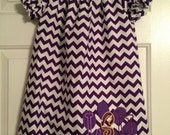 Purple Chevron with LSU