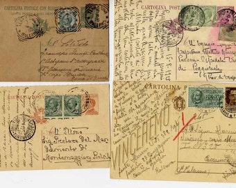 1800s Vintage postcards - Italian ephemera from last 1800s and early 1900s