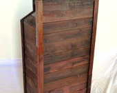 "HOSTESS STAND - ""Podium"" - 100% Recycled Wine Soaked Oak Staves"