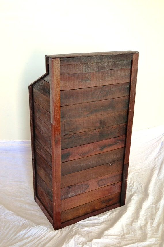 Hostess stand podium recycled wine by