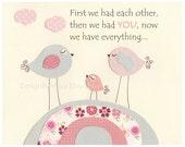 Pink and Gray Nursery Wal...