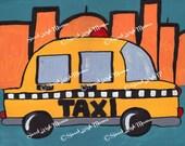 Big City Beep Beep - Taxi - 8x10 Print