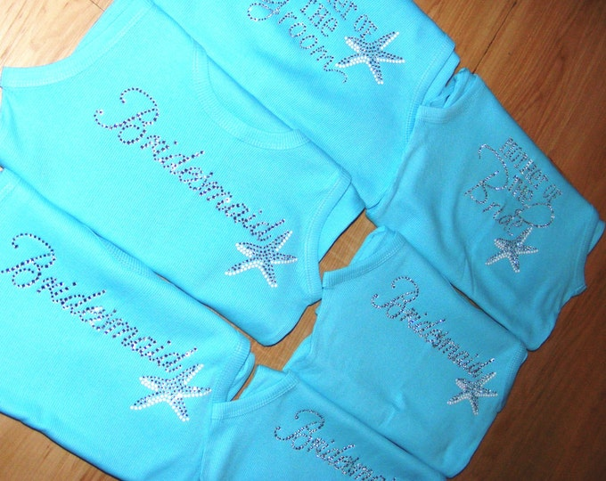 Bride Bridesmaid Tank Tops Bachelorette Oversized T Shirts