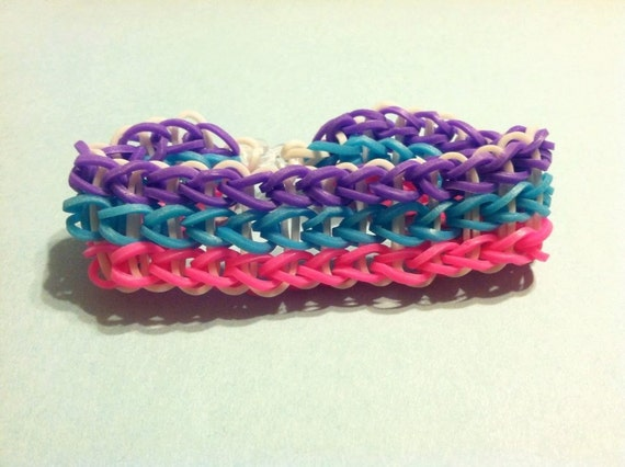 Items similar to Rainbow Loom Triple Single Bracelet on Etsy