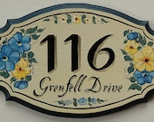Personalized Address Sign, Large House Number Plaques SC