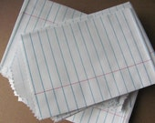 "25 White Notebook Paper Little Bitty Bags - Small 2 3/4 x 4"" - Favor Bags - Flat - Cute / Mini 2.75 x 4 - Food Safe DIY Packaging - Crafts"