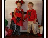 Sibling Matching Reindeer Moose Dress and Boys Reindeer Shirt - Matching Christmas Clothing Brother and Sister