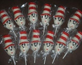 12 Chocolate Cat In The Hat Lollipops
