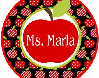 Back to School Apple for the teacher iron on
