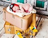 Aviator Hat Photography Prop Goggles Newborn Hat Pilot