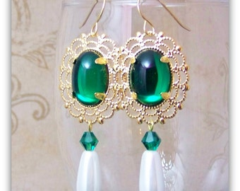 Medieval Earrings - Renaissance Earrings - Medieval Jewelry - Renaissance Jewelry, Tudor Jewelry, Tudor Earrings, Elizabethan
