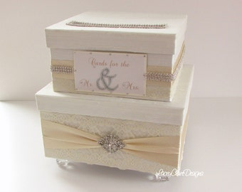Wedding Card Box, Bling Card Box, SALE Rhinestone Money Card Holder