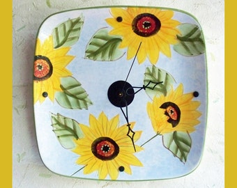 Flower Plate Wall Clock