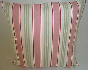 "Candy Pink Stripe Designer Pillowcase Sham Slips Accent Throw Pillow. ONE x 16"" (40cm)"