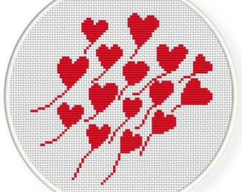 Instant download,free shipping,Cross stitch pattern, Crossstitch PDF,heart pattern ,zxxc0396