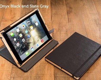 CLEARANCE  - The Contega Case for iPad Air - Black Exterior with Slate Gray