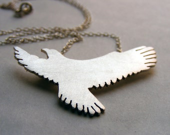 Eagle Pendant , Eagle necklace , Sterling Silver  Eagle pendant.