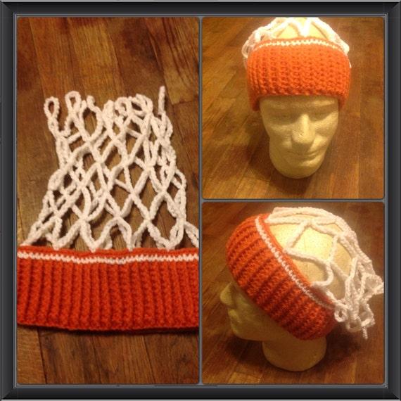 Items Similar To Crochet Basketball Net Hat Ear Warmer