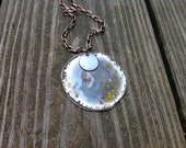 Custom runners or yoga necklace silver and sky blue,yellow,purple