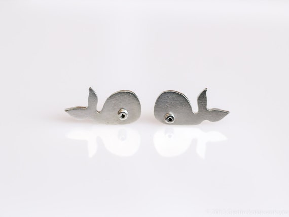 WHALE Sterling Silver Stud Earrings Mini Zoo series