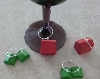 Vintage Monopoly Hotels and Houses Wine Charms