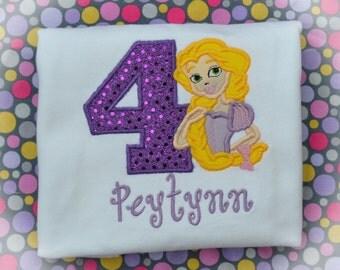 Personalized Boutique Tangled Birthday Shirt