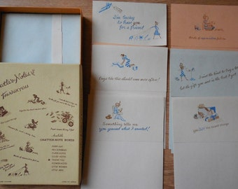 Box of 10 Vintage Note Cards w/ Envelopes