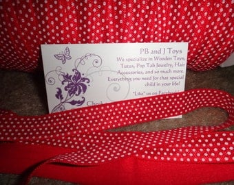 "5/8"" FOE Red with White Polka Dots Elastic 5/8 inch"