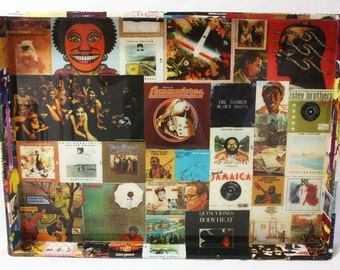 Jazz, Soul and Blues Album Cover Decoupaged Tray