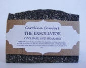 THE EXFOLIATOR - Basil Spearmint Exfoliating Soap, Vegan Soap, Scrub Soap, Herbal Soap, Natural Soap, Activated Charcoal Soap