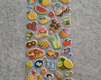 Mixed Cutie Foods Stickers