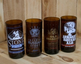 Stone Brewing Pint Variety Pack made from repurposed beer bottles