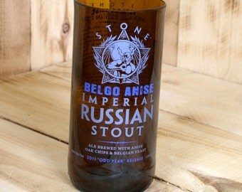 Upcycled Stone Brewing Imperial Russian Stout Belgo Anise Pint Glass