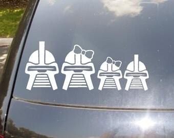 Original Cylon Family Car Sticker set of 4