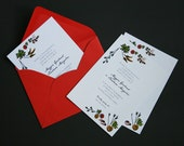 Garden Wedding Invitation / Engagement / Baby Shower / Retirement / Graduation Party / Casual / Floral / SAMPLE